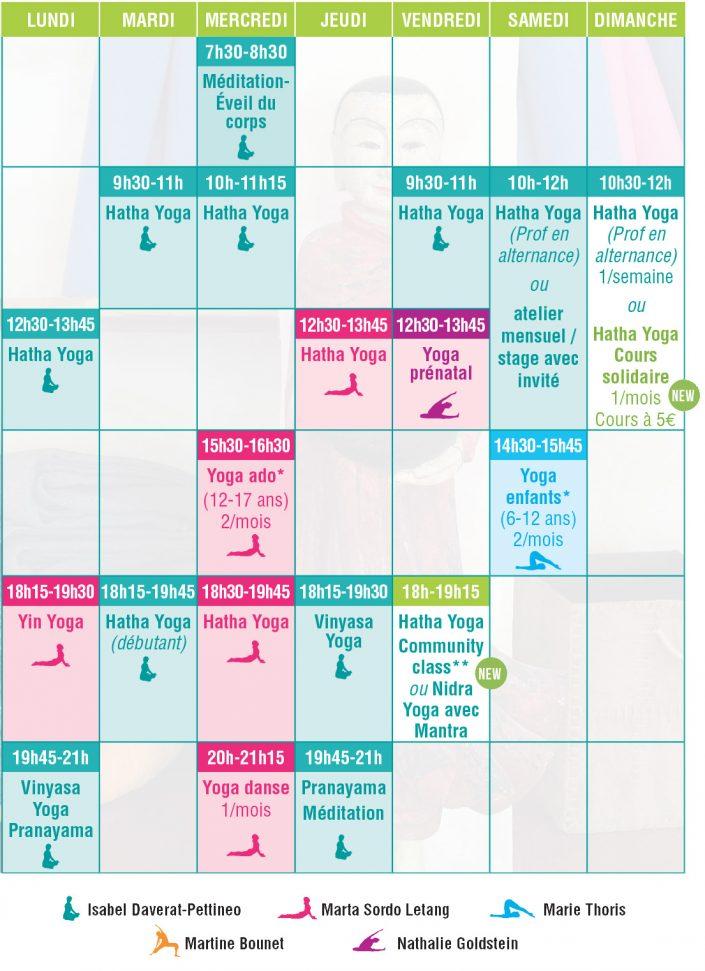 planning cours yoga bordeaux 2018