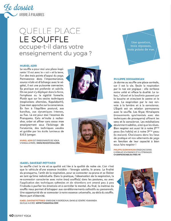 Esprit Yoga Magazine Mars/Avril 2016